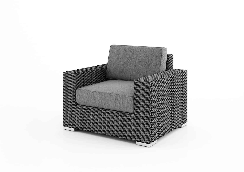 Meble ogrodowe MILANO ze stolikiem/puf royal grey 214