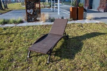 Leżanka LUNA modern brown 345
