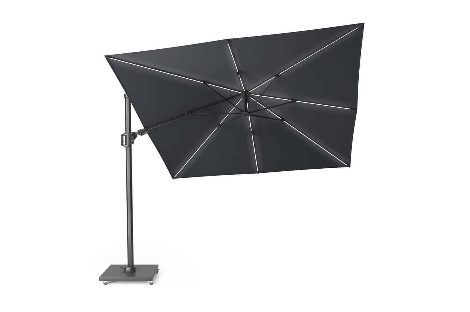 Parasol ogrodowy Challenger T2 GLOW 3 m x 3 m anthracit 300