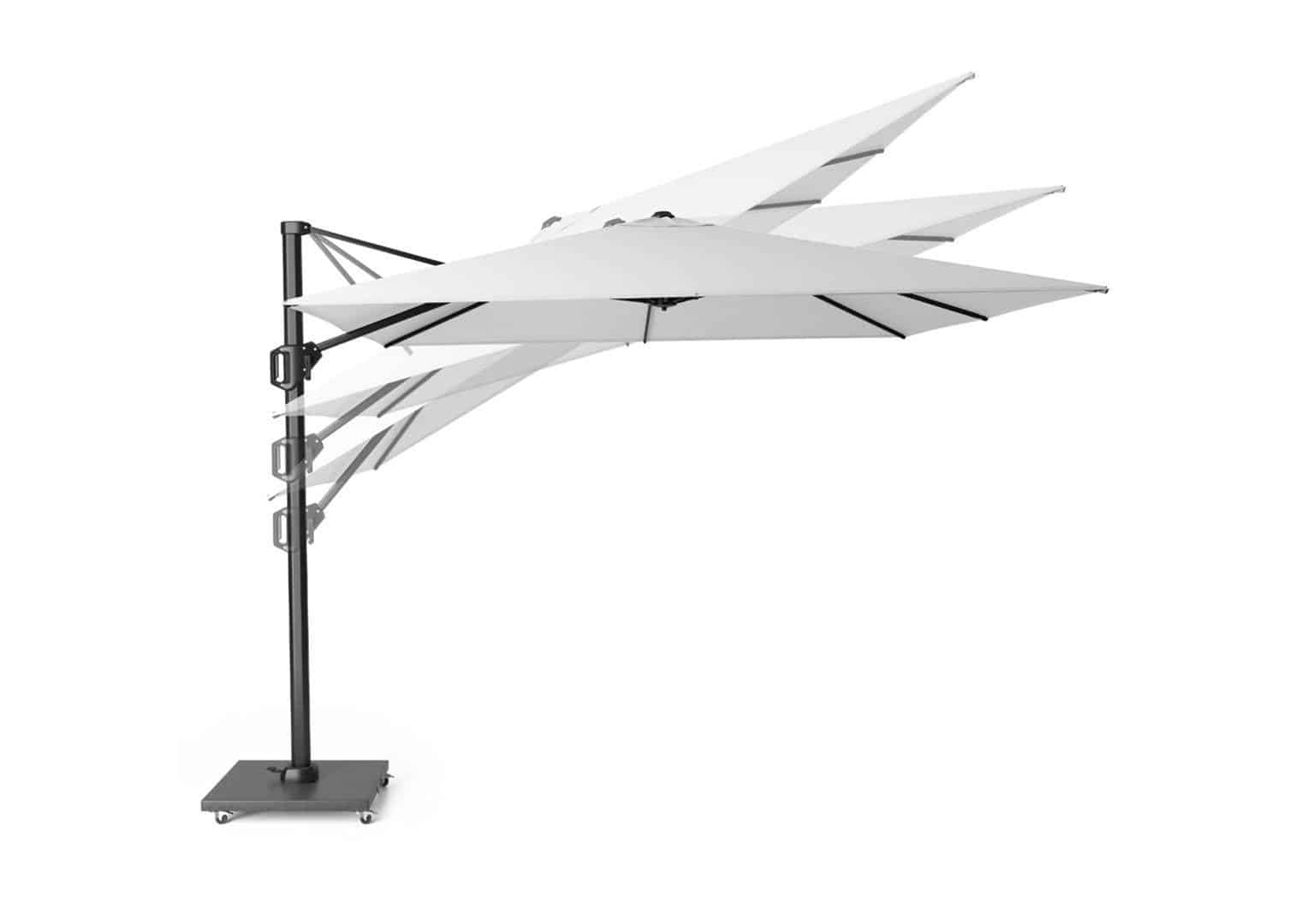 Parasol ogrodowy Challenger T1 3 m x 3 m taupe  303