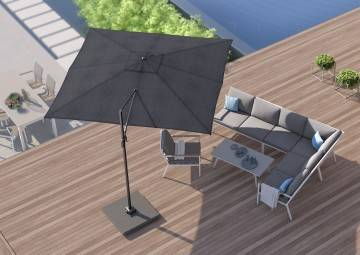 Parasol ogrodowy Challenger T2 3 m x 3 m anthracite 304