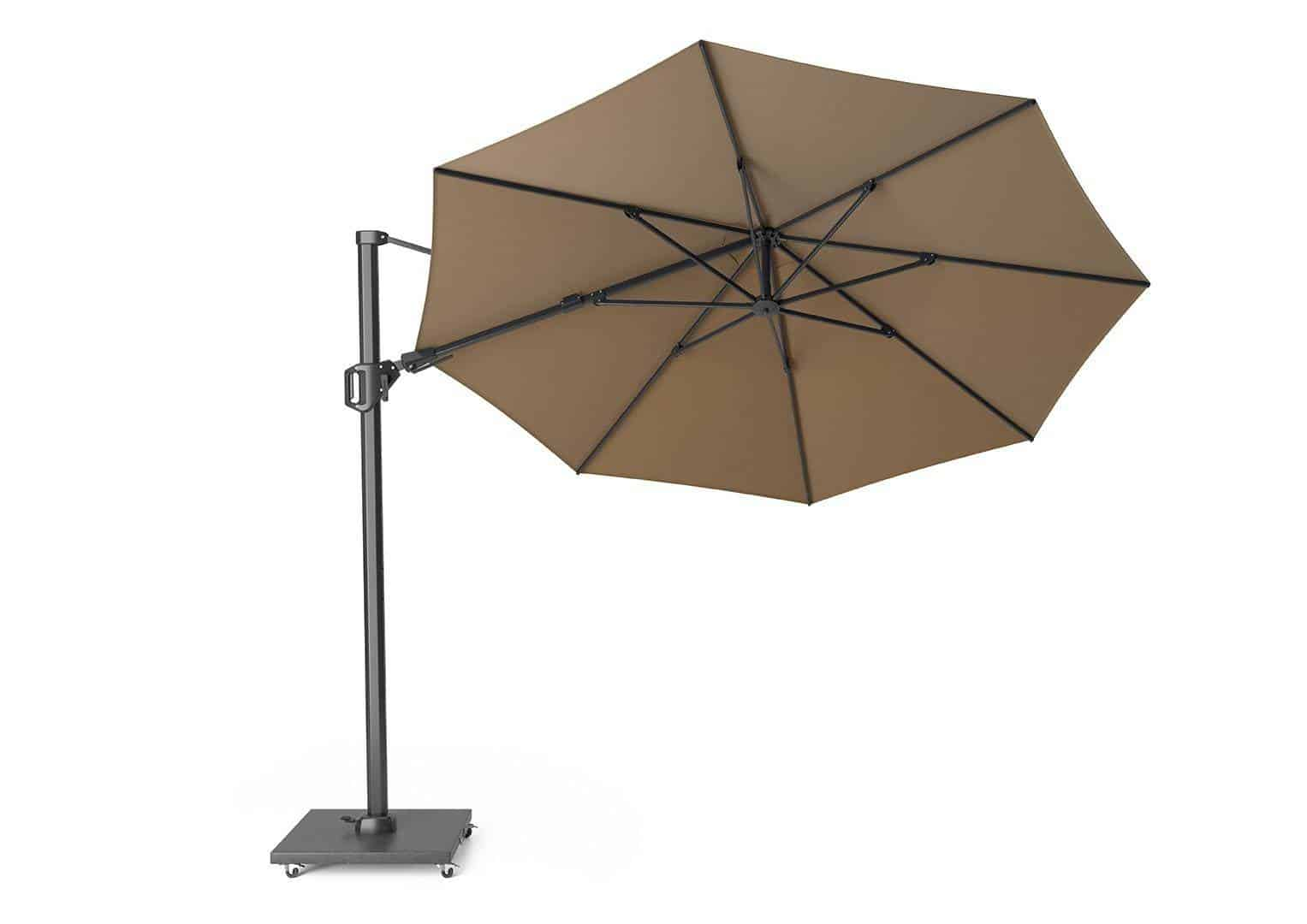 Parasol ogrodowy Challenger  T2 Ø 3,5 m taupe 305