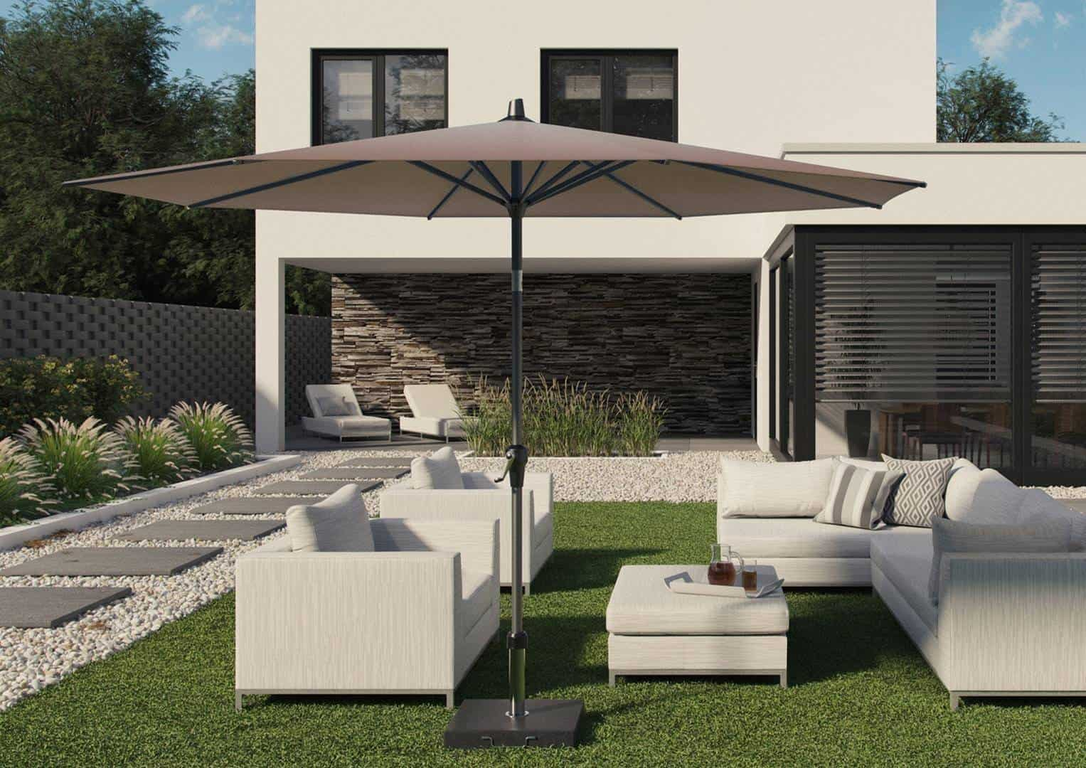 Parasol ogrodowy Riva 3 m x 2 m taupe 310