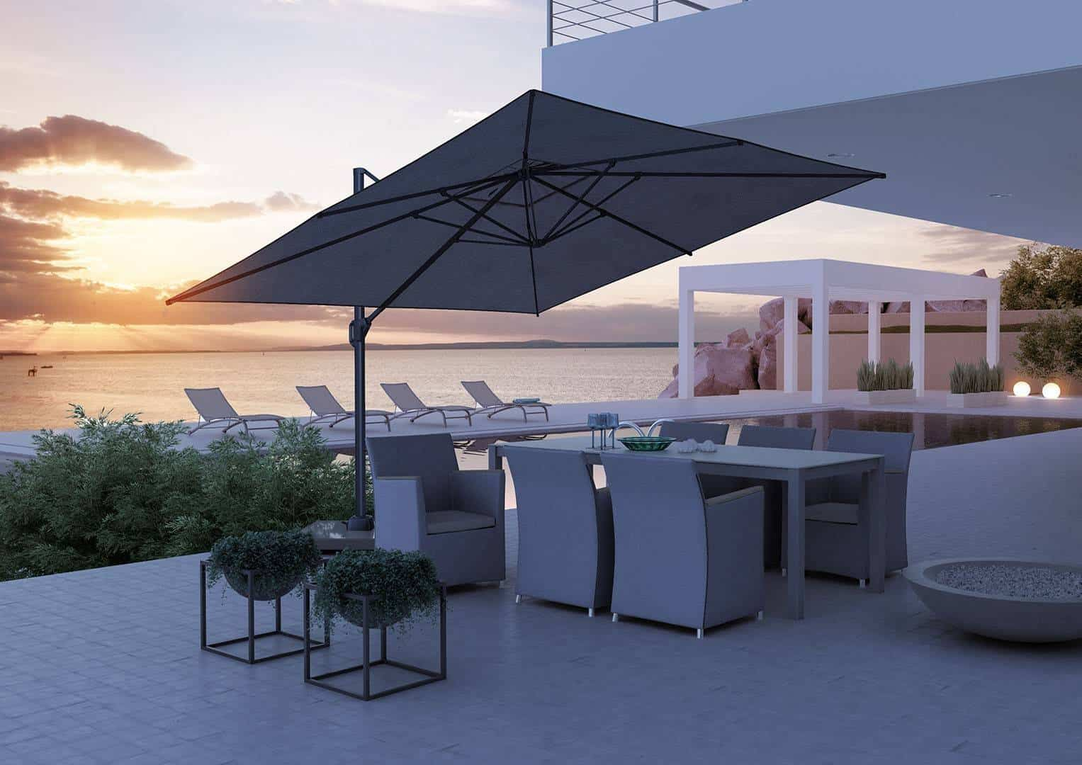 Parasol  ogrodowy Challenger T1 3 m x 3 m anthracite 315