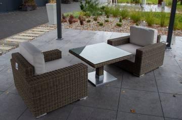 meble ogrodowe: Meble  ogrodowe MILANO ze stolikiem Quadro royal sand 226