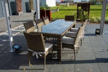 Zestaw ogrodowy RAPALLO z krzesłami STRATO royal sand 230