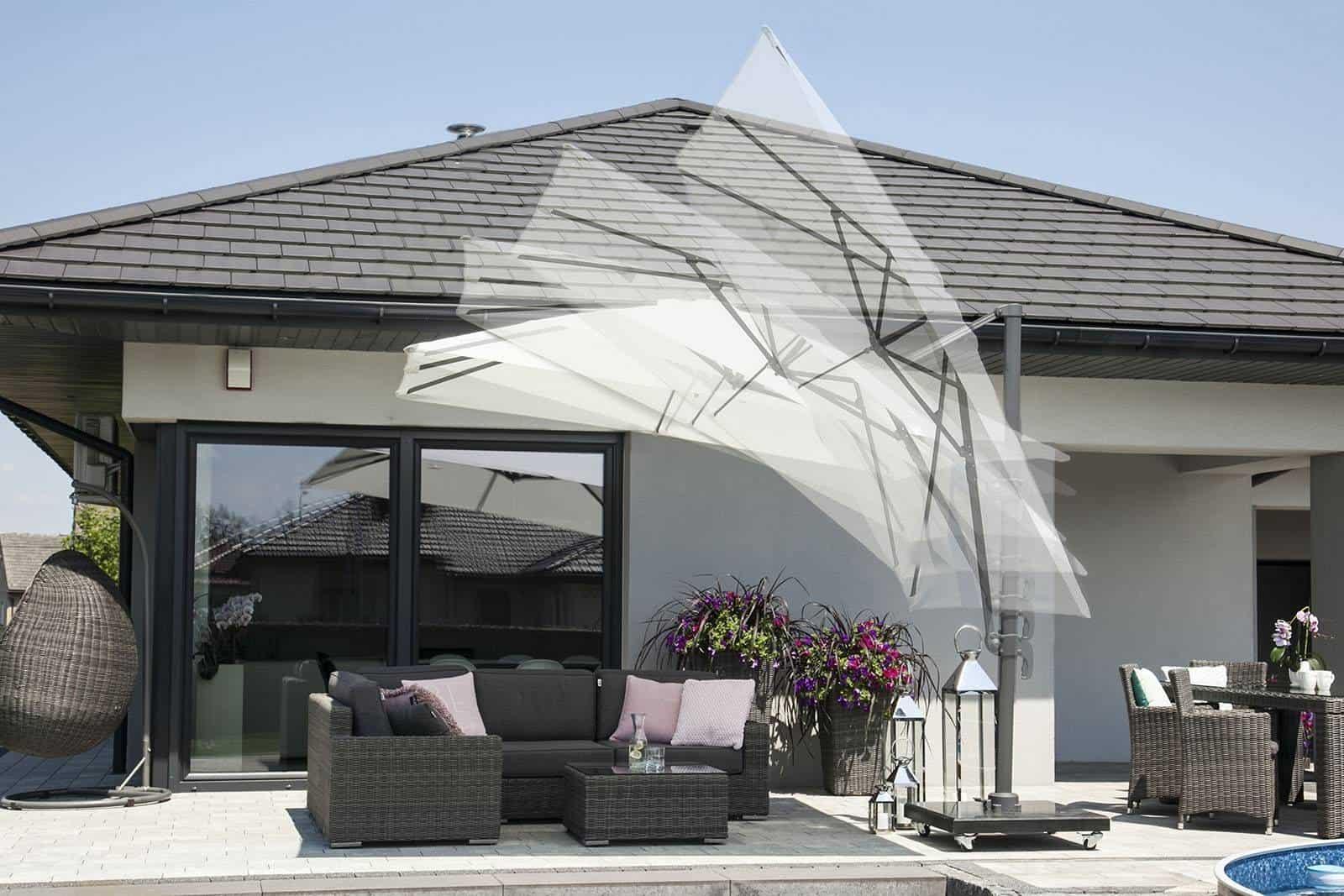 Parasol ogrodowy Solarflex T2 GLOW 3 m x 3 m taupe 256