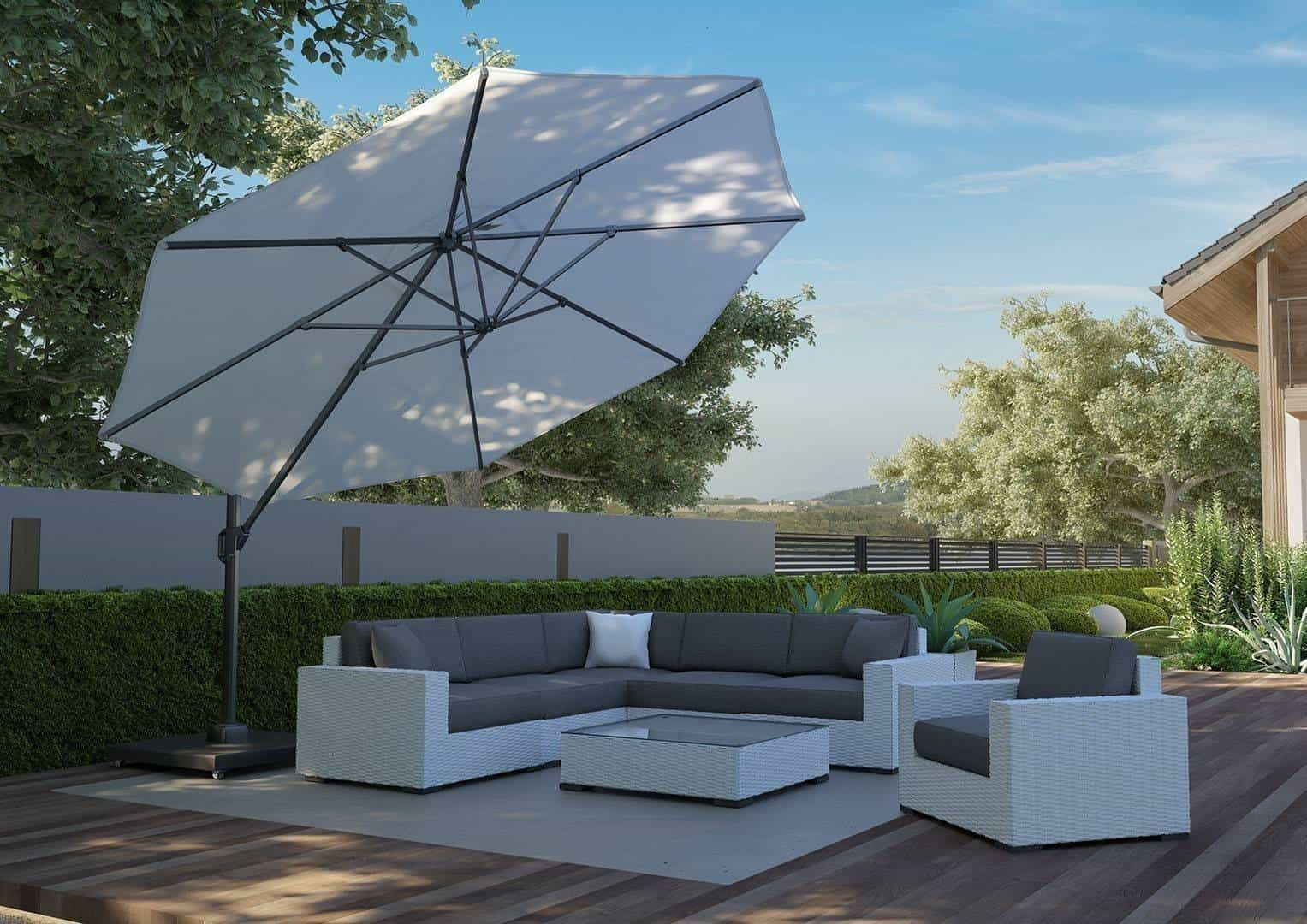 Parasol ogrodowy Challenger T2 Ø 3,5 m white 269