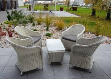 OUTLET: Zestaw ogrodowy Leonardo royal biały 290