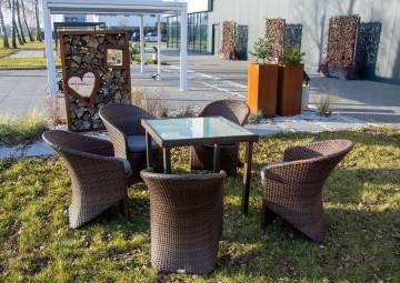 OUTLET: Zestaw ogrodowy Capri + fotele Dolce Vita modern brąz 333
