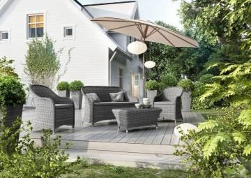 Sofy ogrodowe: Meble ogrodowe LEONARDO royal grey