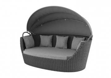 Meble ogrodowe: Sofa ogrodowa PORTOFINO royal szara