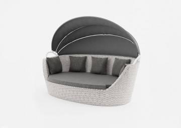 Sofy ogrodowe: Sofa ogrodowa PORTOFINO royal white