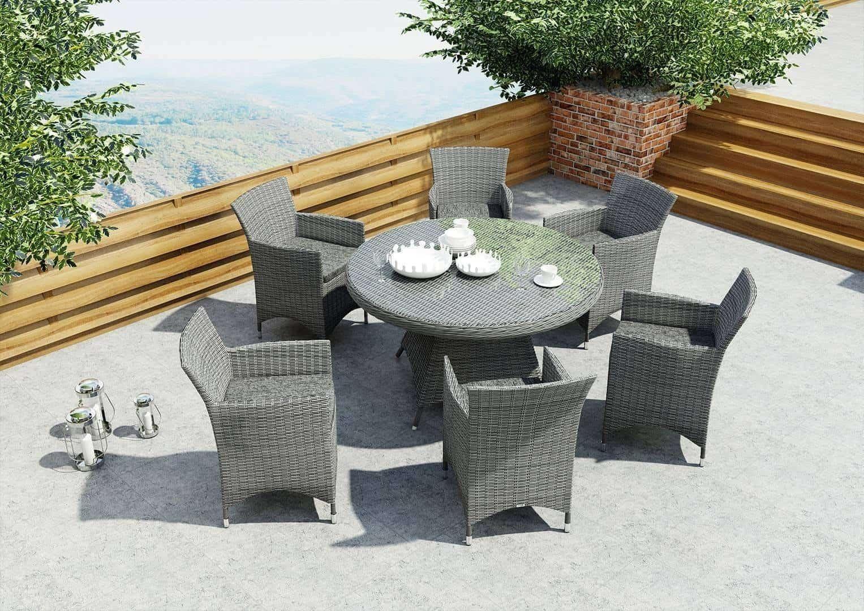 Stół ogrodowy RONDO 130cm royal szary