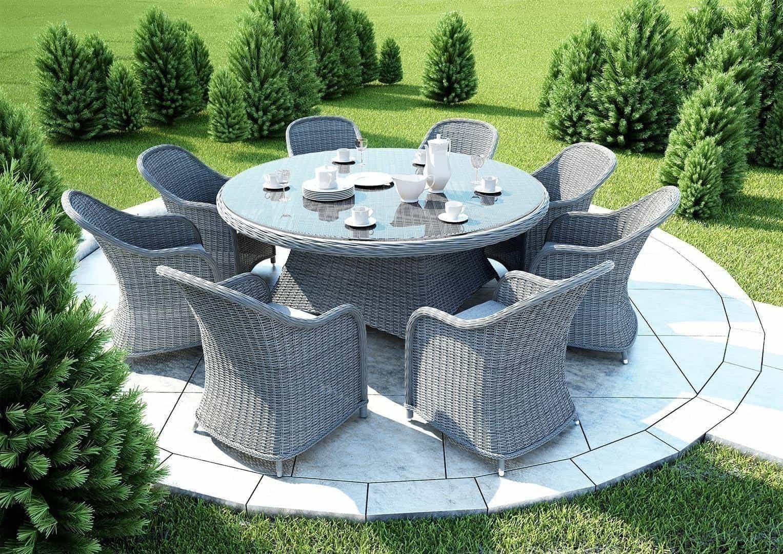 Stół ogrodowy RONDO 180cm royal grey