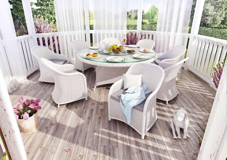 Stół ogrodowy RONDO 180cm royal biały