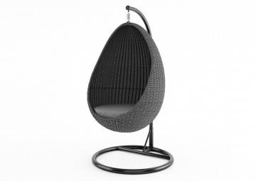 rattan: Fotel wiszący KOKON royal grey