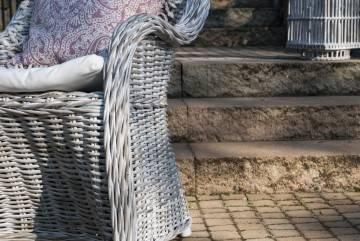 Meble na balkon VERSAILLES białe przecierane