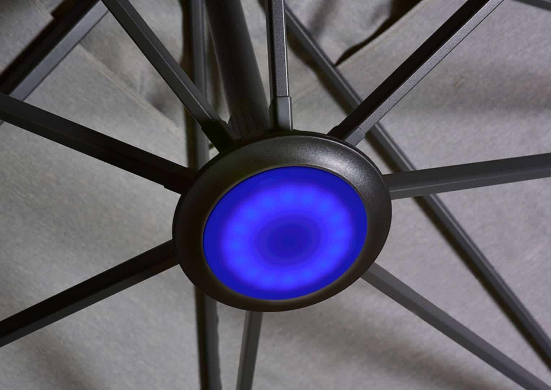 Oświetlenie LED do parasoli ogrodowych Platinum