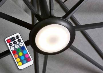 Parasole ogrodowe z boczną nogą: Oświetlenie LED do parasoli ogrodowych Platinum