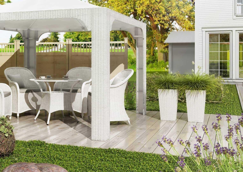 Donica ogrodowa SCALEO 80cm royal biała