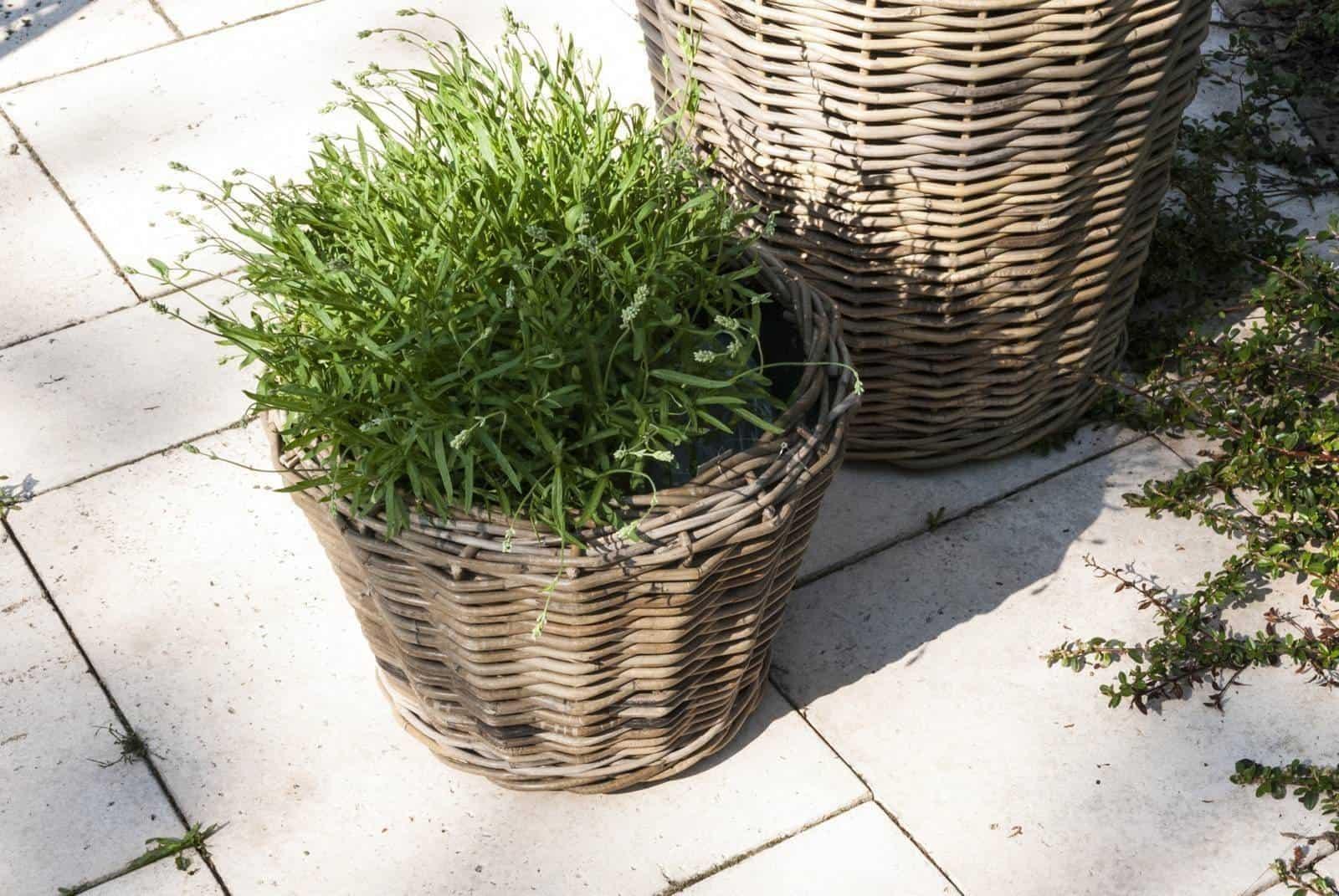 Donica rattanowa GRASSE ⌀52cm x wys. 48cm