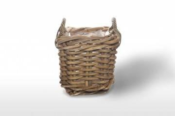 eleganckie meble ogrodowe: Kosz rattanowy NARBONNE sz.35cm x gł.35cm x wys.35cm naturalny