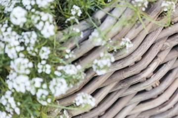 Kosz rattanowy RENNES ⌀65cm x wys. 55cm naturalny