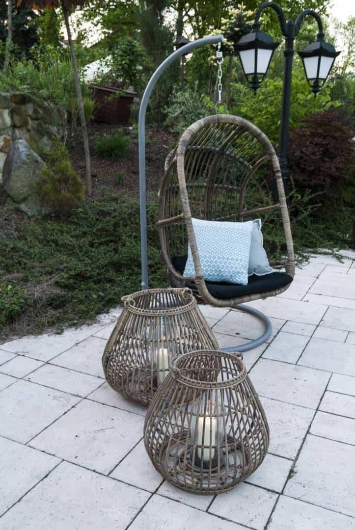 Lampion okrągły CAEN ⌀54cm x wys. 48cm grey