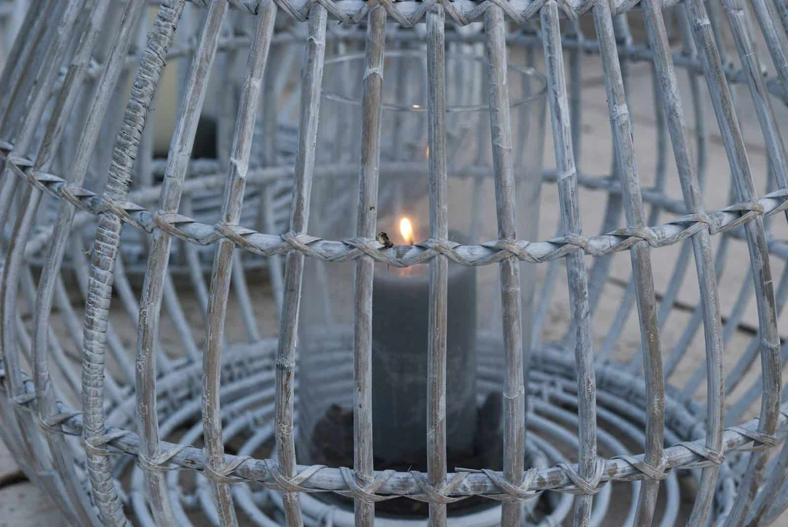 Lampion okrągły CAEN ⌀64cm x wys. 53cm white