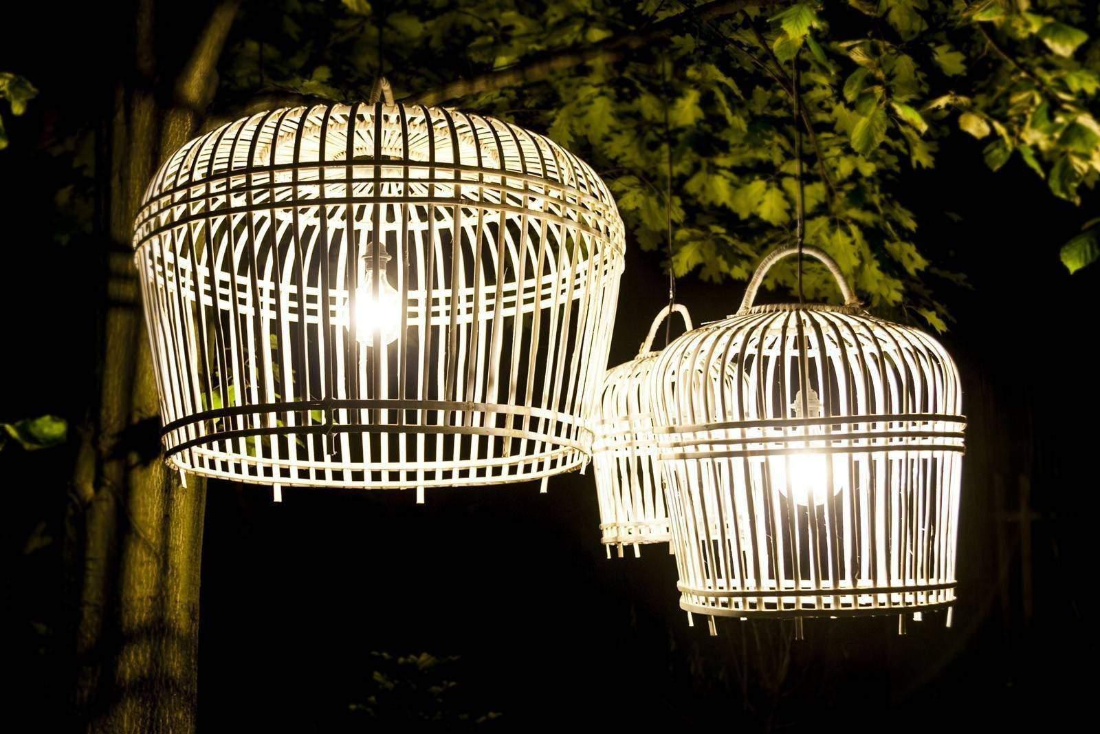 Lampa bambusowa TOULOUSE ⌀41cm x wys. 47cm white