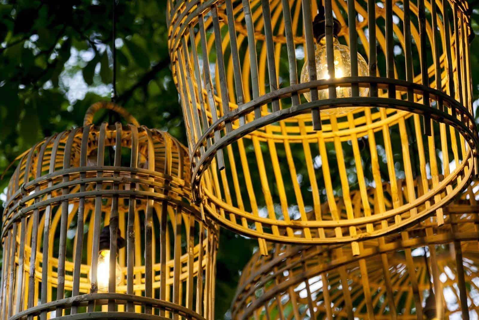 Lampa bambusowa TOULOUSE ⌀96cm x wys. 72cm naturalna
