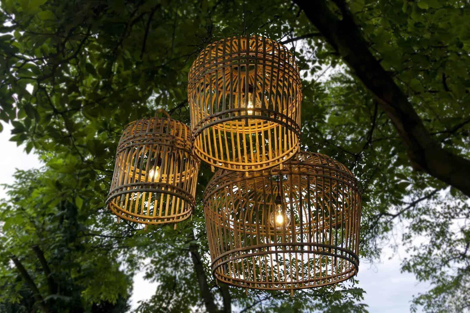 Lampa bambusowa TOULOUSE ⌀54cm x wys. 54cm naturalna