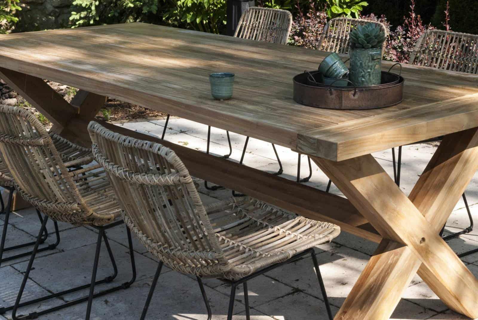 Stół i krzesła ogrodowe rattanowe Vimine