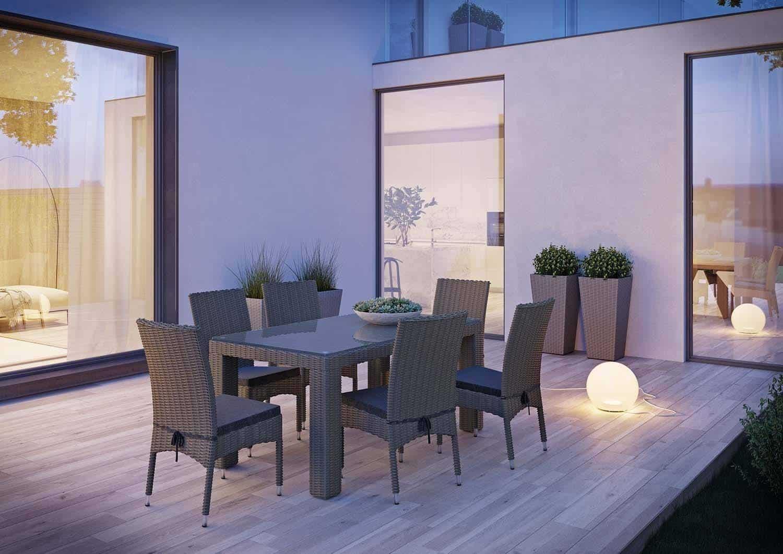 krzesła ogrodowe technorattan STRATO