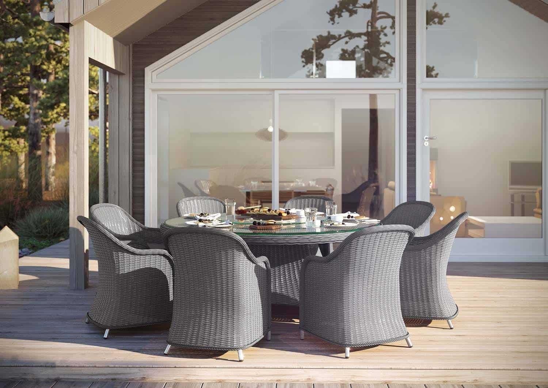 Fotel ogrodowy LEONARDO royal szary
