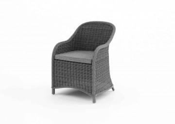 eleganckie meble ogrodowe: Fotel ogrodowy LEONARDO royal szary