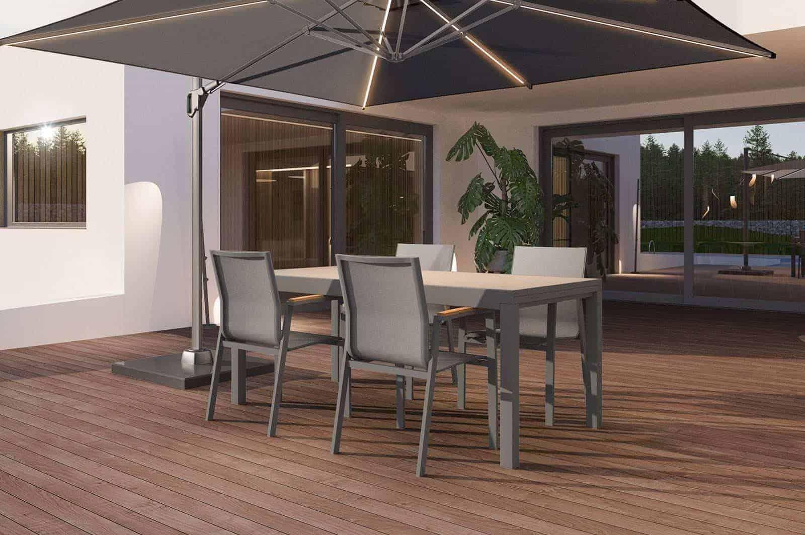 Krzesło ogrodowe LEON grey