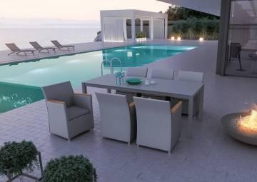 Fotel ogrodowy MERIDA teak grey