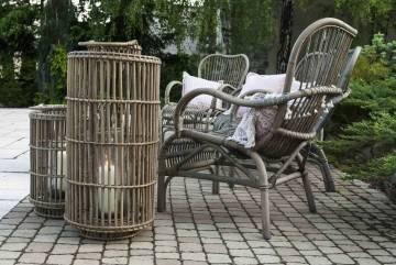 Fotel rattanowy CANNES grey