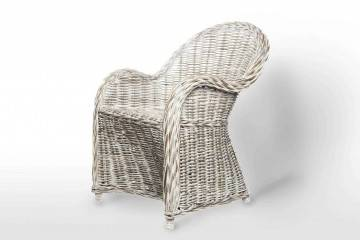 meble ogrodowe rattan: Fotel rattanowy VERSAILLES white