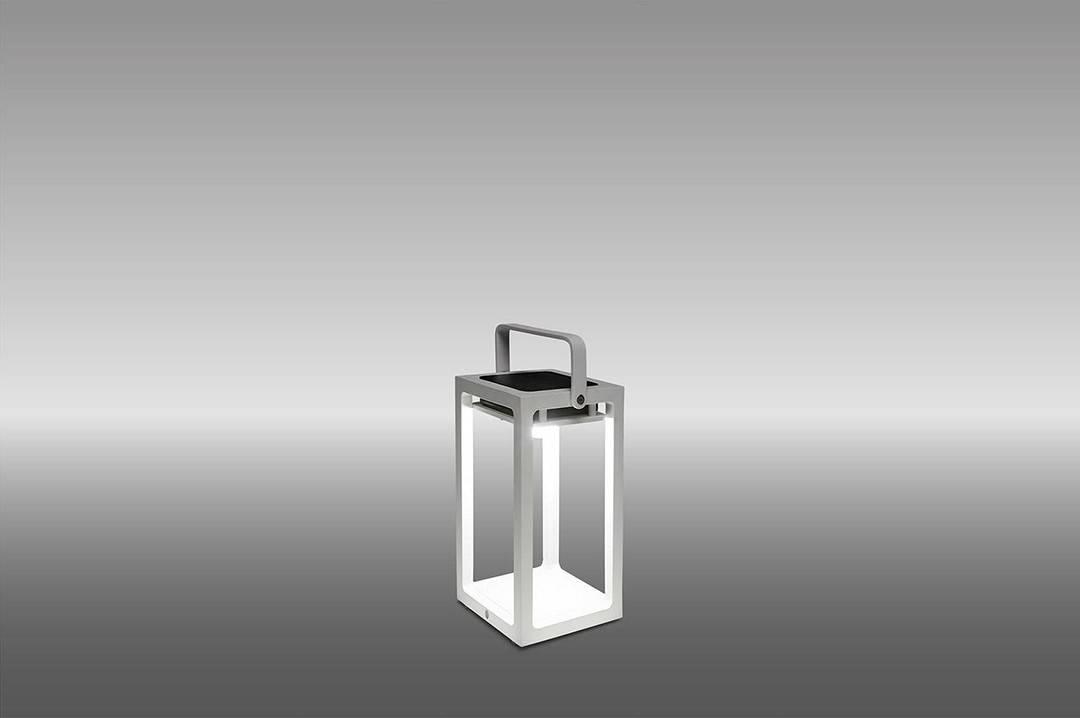 Lampa solarna Mr. Solar JACK biała 14x14x26cm