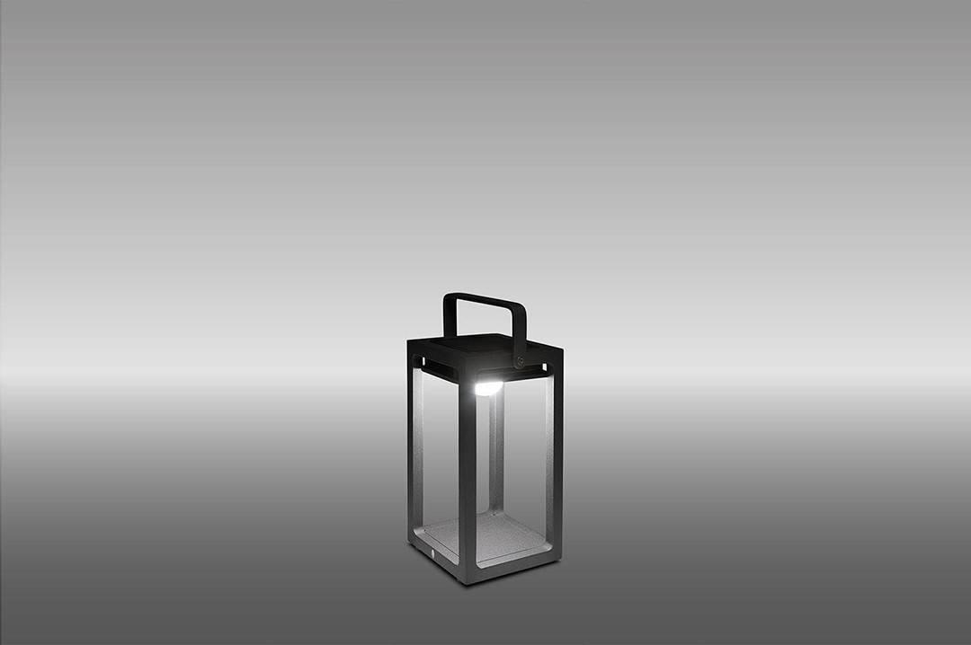 Lampa solarna Mr. Solar JACK antracyt 14x14x26cm