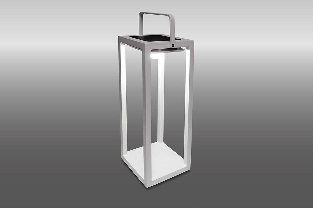 Lampa solarna Mr. Solar JACK biała 20x20x50cm