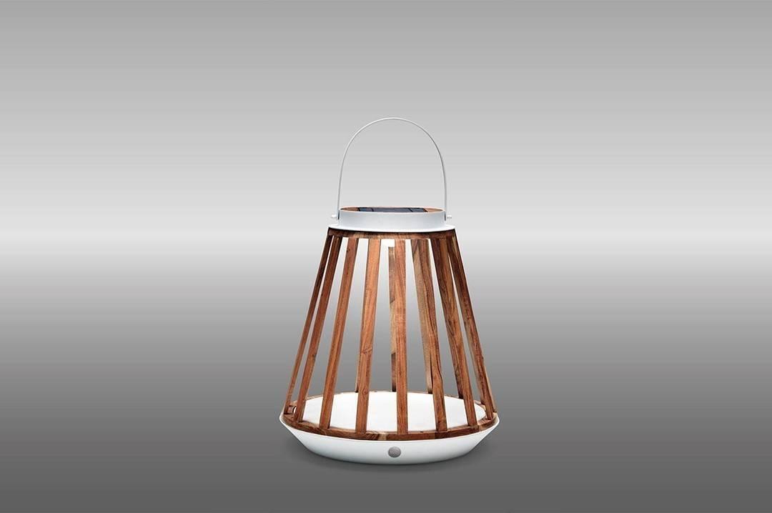 Lampa solarna Mrs. Solar Kate teak biała M
