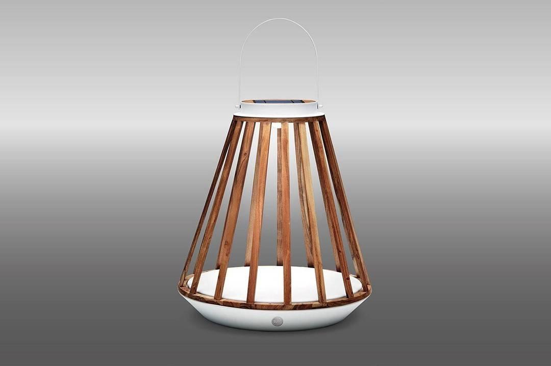 Lampa solarna Mrs. Solar Kate teak biała L