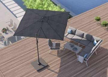 Parasole ogrodowe z boczną nogą: Parasol ogrodowy Challenger T¹ Premium  3x3m