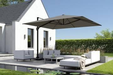 parasole ogrodowe z korbką: Parasol ogrodowy Challenger T¹ Telescope Premium 3,5m x 3,5m