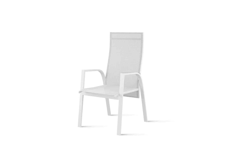 Krzesło ogrodowe ALICANTE białe