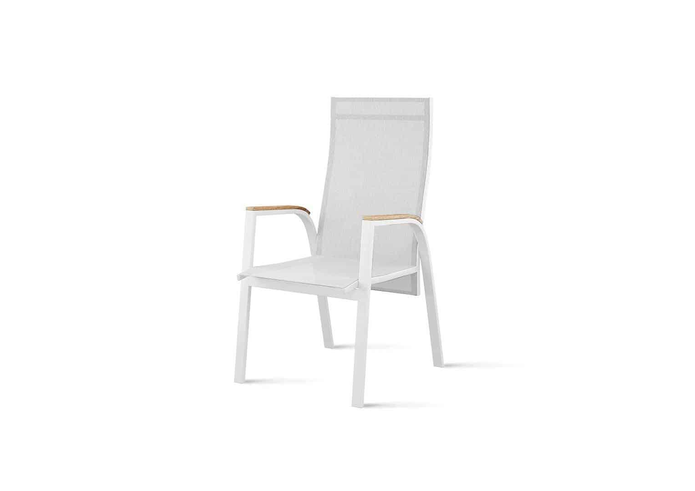 Krzesło ogrodowe ALICANTE teak białe